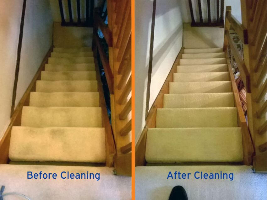 Stair Carpet Cleaned